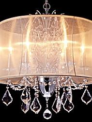 Lustre ,  Contemporain Traditionnel/Classique Rustique Chrome Fonctionnalité for Cristal Style mini Designers MétalSalle de séjour