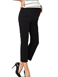Expectant Mother's Pure Cotton Han Edition Career Women Straight Spring Model Of Elastic Straight Elastic Abdominal Pants