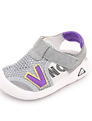 Boys' Baby Sandals First Walkers Tulle Summer Casual First Walkers Flat Heel White Gray Green Flat