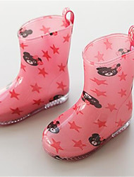 Girls' Boots First Walkers Fabric Spring Summer Outdoor Casual Rain Boots Flat Heel Peach Blushing Pink 1in-1 3/4in