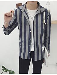 Men's Simple Shirt,Solid Shirt Collar Long Sleeve Multi-color Cotton