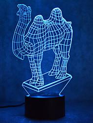 Navidad camello tacto atenuando 3d led noche luz 7colorful decoración atmósfera lámpara novedad iluminación luz de Navidad