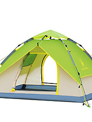 3-4 persons Tent Double Automatic Tent One Room Camping Tent Oxford Fiberglass Waterproof Windproof Ultraviolet Resistant Foldable-Hiking