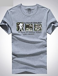 Homme Tee-shirt Pêche Respirable Eté