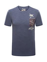 Homme Tee-shirt Pêche Respirable Eté Bleu Noir