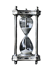Moonlight Metal Hourglass 30 Minutes Timer Creative Ornaments Home Decorations Study Desk Desktop Crafts Gifts
