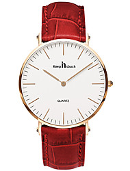 Women's Fashion Watch Quartz Leather Band Red Brown Red Brown