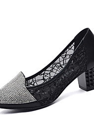 Women's Sandals Spring Summer Comfort Synthetic Office & Career Party & Evening Dress Low Heel Sparkling Glitter