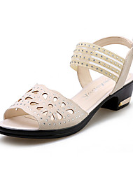 Latin dancing shoes female adult high with square dancing shoes summer sandal soft bottom shoes