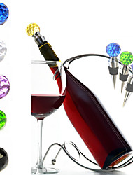 Glass Metal Wine Accessories  Crystal Glass ball Various Wine Cork Corkscrew Wine Bottle Stopper Oxygenating Wine Pourer Tie Plug Bung Stopper