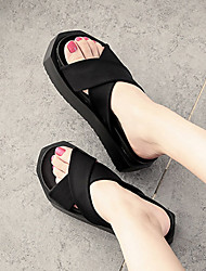 Damen Sandalen Komfort Synthetik casual schwarz