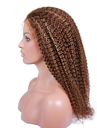 8-24Inches Kinky Curly Human Hair Brazilian Virgin Wigs Full Lace Wig For Women