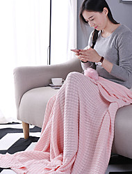 KnittedSolid Solid 100% Cotton Blankets