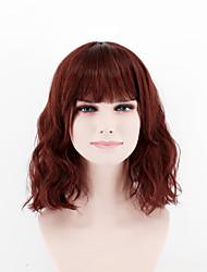 Peruca do parágrafo curto da senhora da forma peruca marrom do vermelho do reto do marrom da peruca do parágrafo