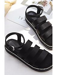 Damen-Sandalen-Lässig-PUKomfort-Weiß Schwarz Blau