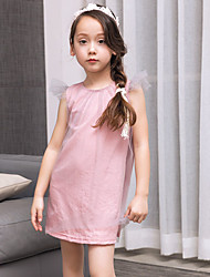 Girl's Fashion And Lovely A Word Skirt Lace Angels Sleeve Net Dust Cotton Yarn Princess Dress