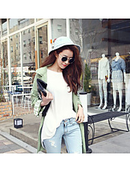 Women's Going out Casual/Daily Simple Loose Dress,Solid Round Neck Mini Long Sleeve Cotton Bamboo Fiber Summer Mid Rise Micro-elastic Thin