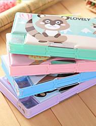 Animais caixa quadrada papelaria criativa 1 pc cor aleatória