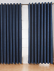 Two Panels Curtain Modern Living Room Linen/Polyester Blend Material Curtains Drapes Home Decoration For Window
