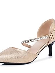 Mujer-Tacón Bajo Tacón Kitten-Suelas con luz Zapatos del club Zapatos formales Confort Innovador Gladiador Tira en el Tobillo-Zapatos de