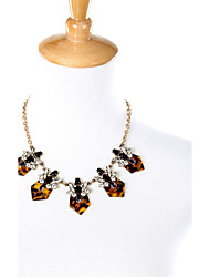 Women's Statement Necklaces Geometric Chrome Fashion Personalized Light Brown Jewelry For Party Thank You Christmas Gifts 1pc