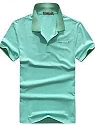 Homme Tee-shirt Pêche Respirable Eté Bleu Vert Jacinth
