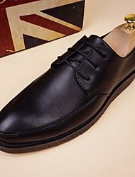 Chaussures de sport pour hommes chaussures de printemps confort cuir tulle casual noir