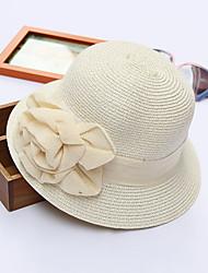 Для женщин Очаровательный На каждый день Панама Шляпа от солнца,Весна Лето Полиэстер Солома