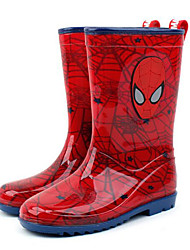 Girls' Boots Comfort First Walkers Leatherette Spring Fall Outdoor Casual Walking Rain Boots Magic Tape Low Heel Peach Red Blushing Pink