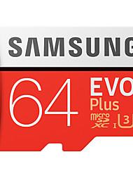 Samsung 64gb micro sd cartão tf cartão cartão de memória uhs-i u3 classe 10 evo plus 100mb / s