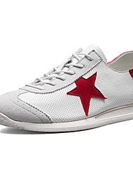 Men's Sneakers Spring Summer Comfort Tulle Outdoor Athletic Casual Flat Heel Khaki Red Gray Running