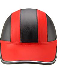 Моторный шлем бейсболка стиль безопасность жесткая шляпа anti-uv красныйblack