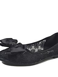 Feminino-Rasos-Buraco Shoes-Rasteiro--Tule-Ar-Livre Social Casual
