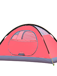 1 person Tent Double Fold Tent One Room Camping Tent >3000mm Oxford Moistureproof/Moisture Permeability Waterproof Windproof Rain-Proof-