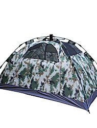 2 persons Tent Double Automatic Tent One Room Camping Tent 2000-3000 mm Fiberglass Oxford Waterproof Portable-Hiking Camping-Camouflage