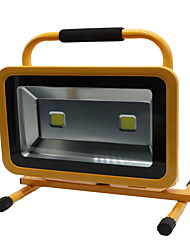Hkv® 1pcs 100w 8850-9950lm 6000-6500k lumière blanche froide portable chargeable floodlight feux d'urgence led projecteur (ac 85-265v)