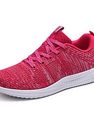 Femme Chaussures d'Athlétisme Confort Tulle Printemps Automne Décontracté Marche Confort Combinaison Talon Plat Gris Pêche 5 à 7 cm