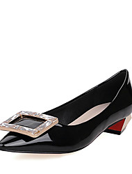 Women's Heels Spring Summer Formal Shoes Patent Leather Office & Career Party & Evening Dress Chunky Heel Sparkling Glitter Red Black