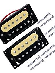 1 Set 2PCS Zebra Double Coil Humbucker Electric Guitar Pickups Neck and Bridge Pickup