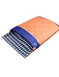 Schlafsack Rechteckiger Schlafsack Doppelbett(200 x 200) -10-20 Polyester T/C BaumwolleX150 Camping Draußen warm halten