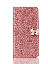 Pour Apple iphone 7 plus 7 porte-cartes porte-monnaie étui corps plein glitter brillant dur pu cuir pour iphone 6s plus 6 6s