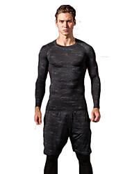 Plus Size 3XL Men's Fashion Cotton T-Shirts Long Sleeve Quick Dry Round Neck Shirts