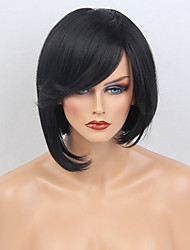 Special Bob Natural Wave Blonde Capless Cap Human Hair Wig With Side Bangs For Women 2017