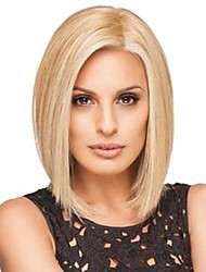 Blonde Short Straight Bobo Wig  High Temperature Fiber American Afro Synthetic Hair Wigs for Women