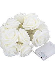 5M 20 LED Battery Operated String Flower Rose Fairy Light Wedding Room Garden Christmas Decor (warm white)
