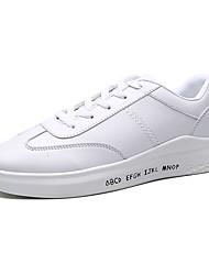 Unisex-Sneakers-Casual-pattini delle coppiePU (Poliuretano)-Bianco Bianco/nero