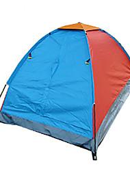 1 Pessoa Tenda Único Tenda Dobrada Dois Quartos Barraca de acampamento 1000-1500 mm Fibra de Vidro OxfordÁ Prova de Humidade Prova de