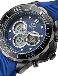Men's Sport Watch Fashion Watch Quartz Silicone Band Blue
