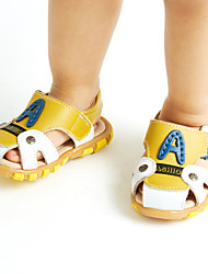 Boy's Sandals Spring Summer Fall Comfort Leather Outdoor Athletic Casual Low Heel Blue Brown Yellow Walking