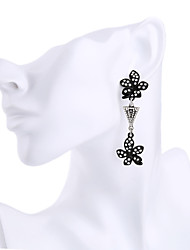 Жен. Серьги-кольца Кристалл Мода Euramerican Простой стиль Цветочный принт Бижутерия Назначение Свадьба Для вечеринок День рождения